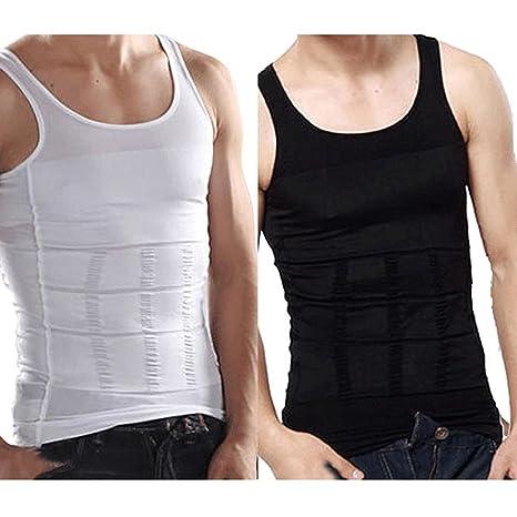 657f8c9ec59c Buy Shapewear Underwear Body Shaper Slimming Tummy Belly Waist Shirt Vest  Tummy Tucker Shaper Undershirt Online at Low Prices in India - Amazon.in