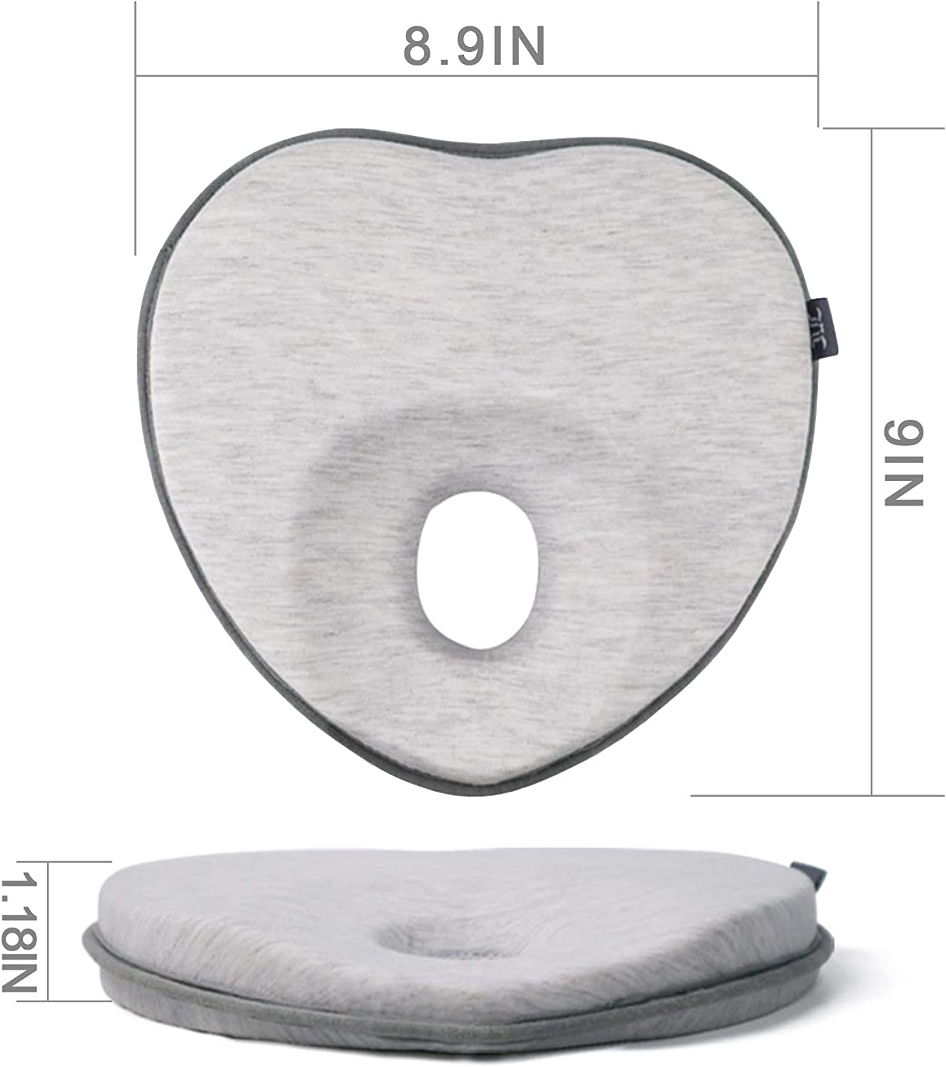 Heart Shaped./ LONOY Newborn Baby Head Shaping Pillow|Baby Pillow for Flat Head Syndrome Prevention|Premium Memory Foam Infant Pillow for Head/&Neck Support Pillow