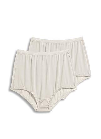 799807c0276 Jockey Women's Underwear -SilksTM Plus Size Brief - 2 Pack, Ivory, 8 at Amazon  Women's Clothing store: