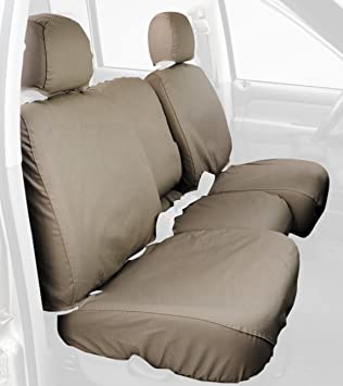 Covercraft SS3381PCCH Custom-Fit Front Bench SeatSaver Seat Covers Polycotton Fabric Charcoal Black