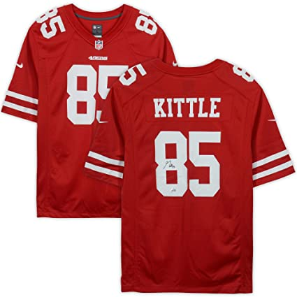 sale retailer 0073c 09ed7 George Kittle San Francisco 49ers Autographed Scarlett Nike ...