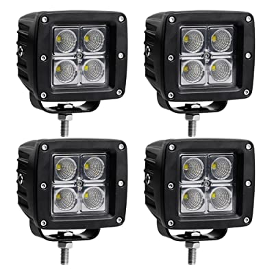 LED Light Bar LEDKINGDOMUS 4pcs 20W 4inches Flood Cube LED Work Light Pod Off Road Light Led Fog Light Truck Light Driving Light Boat Light Compatible for Truck, Pickup, SUV, ATV, UTV, Waterproof: Automotive