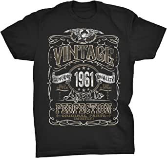 60th Birthday Shirt for Men - Vintage 1961 Aged to Perfection