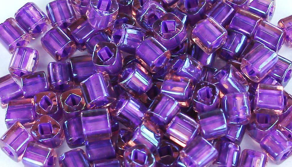 Toho Round Seed Beads 11//0#928 Rainbow Rosaline//Opaque Purple Lined 8 Gram Tube