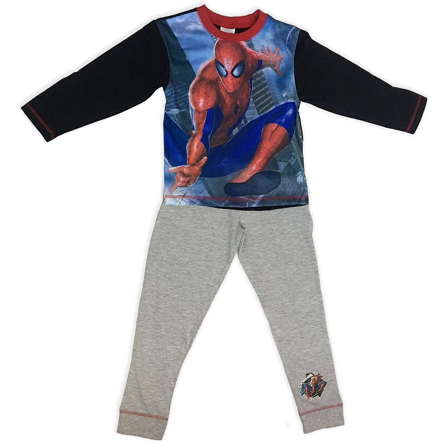 Amazon.com: Pijama para niños Ultimate Spiderman, color gris ...