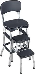 Cosco Black Retro Counter Chair / Step Stool