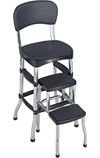 Charmant Cosco Black Retro Counter Chair/Step Stool