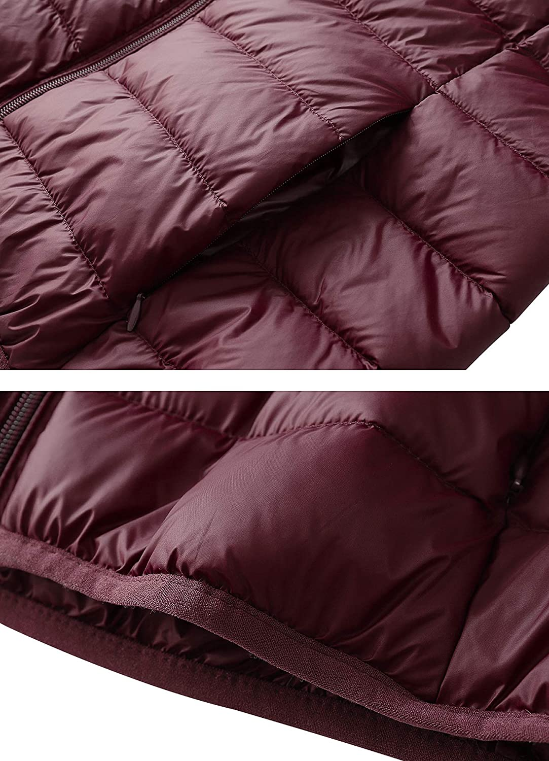 c7bff67059c Fantiny Women s Hooded Down Jacket Packable Ultra Lightweight Outwear  Puffer Coats with Travel Bag