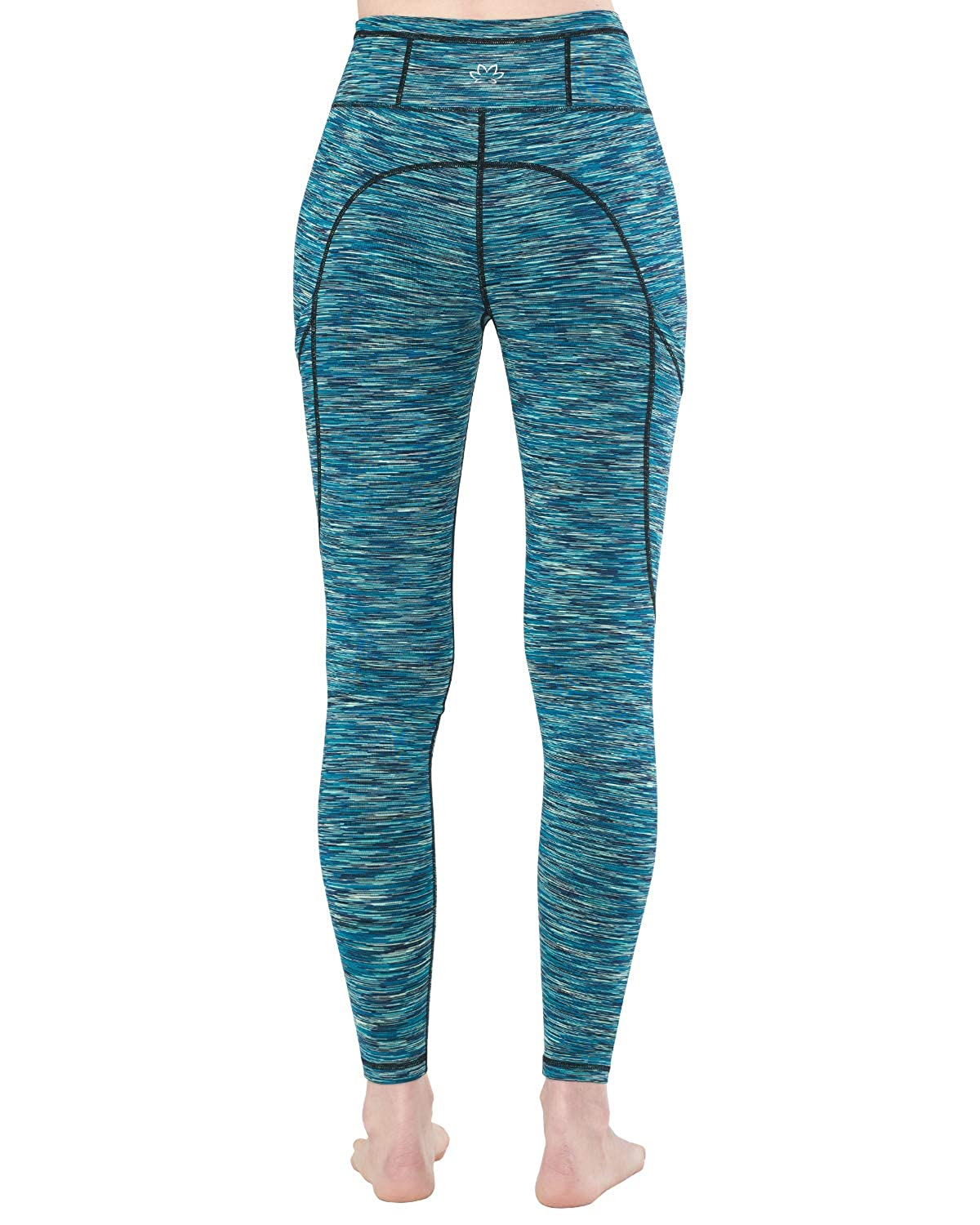 LaiEr Womens High Waist Yoga Legging with Both Side Pockets Running Leggings 4 Way Stretch Workout Pants