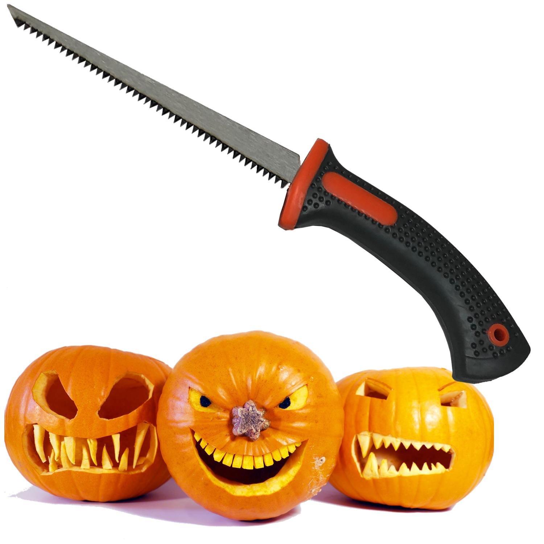 Keyfit Tools PROFESSIONAL Pumpkin Carving Knife, Adult Use Only, Extra Sharp Heat Treated''Blue Steel'' Blade, Halloween Jack O' Lantern Carving Knife, Fruit Carver Knife, Tool