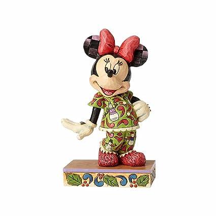 Enesco Disney Traditions Figurita Cómodo Y Feliz Minnie Mouse, Resina,, 11x11x13 cm