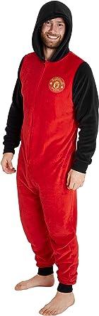 Manchester United F.C. Pijama Hombre de Una Pieza, Pijama ...