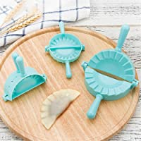 RoseFlower 3pcs Stainless Steel Half-Round Ravioli Dumplings Rapid Making Tool Set Including 3 pcs Different Size Dumpling Mould-Chinese Dumpling Pie Model Maker Kitchen Accessories