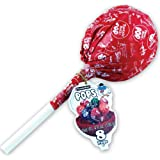 GIANT TOOTSIE ROLL POP container holds 8 Hard Candy Lollipops