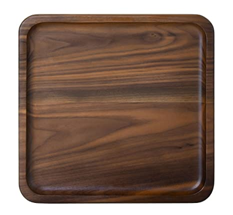 Rustic Walnut Wooden Tray Solid Wood Serving Tray Square Rectangle Platter  Tea Tray Coffee Table Tray