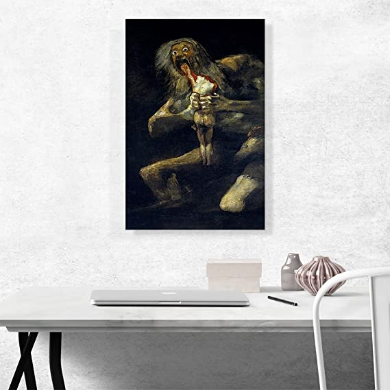 Saturn Devouring His Son Francisco de Goya Fine Art Canvas