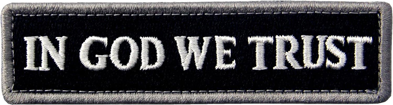 Bundle 2 Pieces EmbTao In GOD We Trust Embroidered Tactical Morale Fastener Hook/&Loop Patch