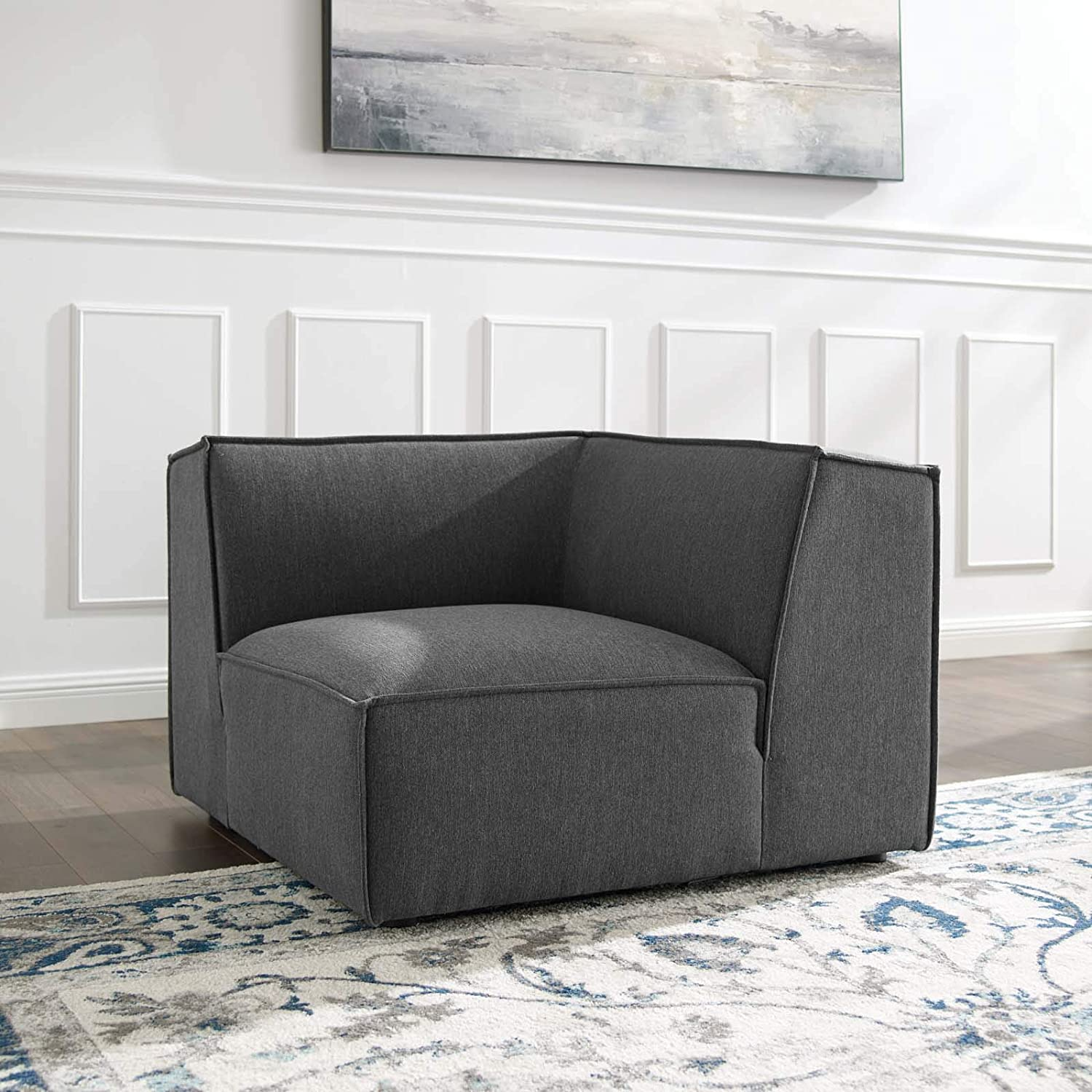 Modway Restore Sectional Sofa Corner Chair Charcoal