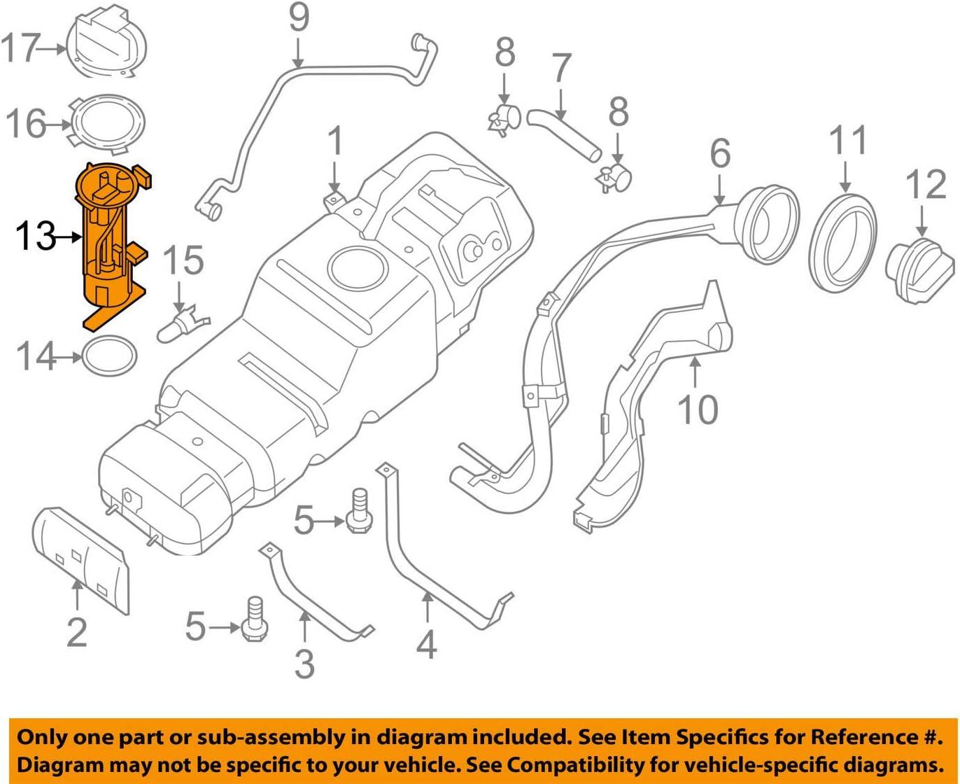 Electric Fuel Pump Nissan 17040-1PA0A