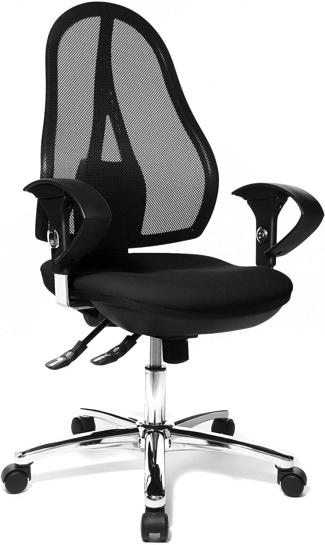 Topstar OP290UG20 Open Point SY Deluxe - Silla giratoria para oficina (incluye brazos), color negro