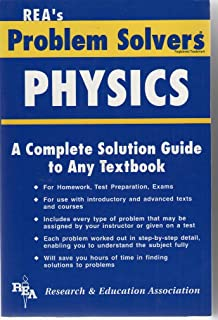 the physics problem solver problem solvers solution guides  rea s problem solver physics a complete solution guide to any textbook