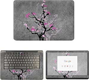 decalrus - Protective Decal Floral Skin Sticker for HP ChromeBook 14-CA061DX (14