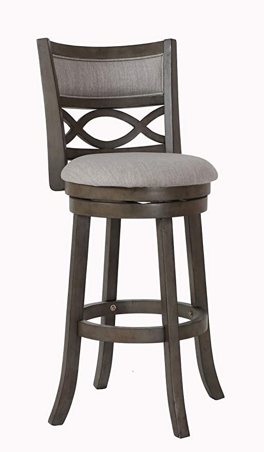 Awesome New Classic Furniture New Classic Manchester Swivel Bar Stool Antique Grey 29 Inch Dailytribune Chair Design For Home Dailytribuneorg