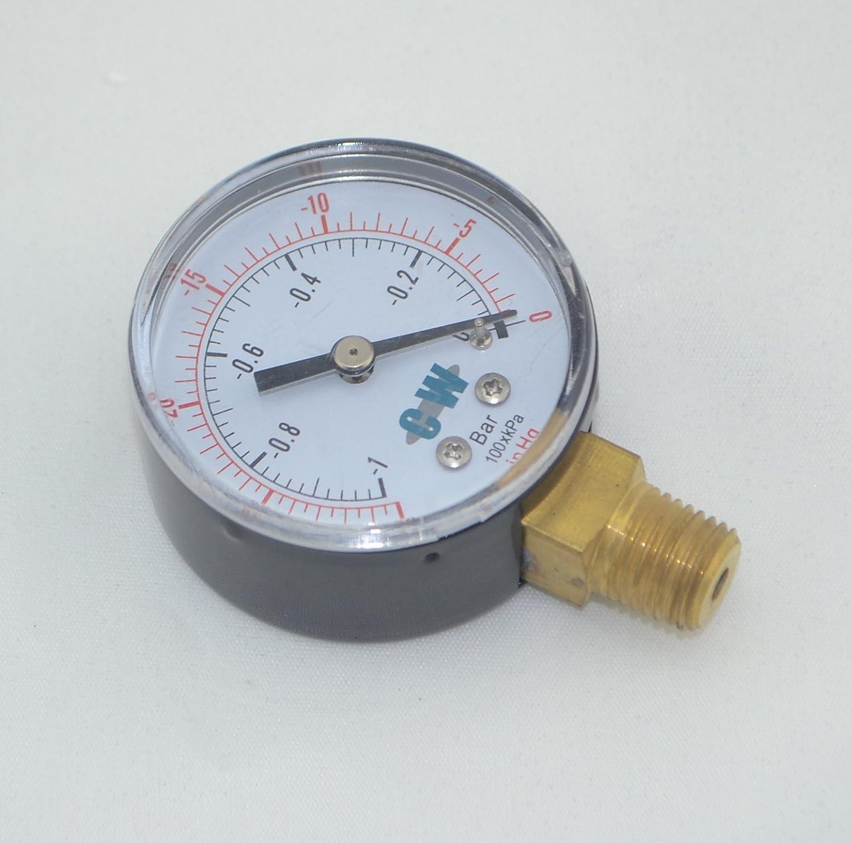 """4pcs/lot 2"""" 50mm brass vacuum pressure gauge ,vacuum manometer ,PT1/4"""" or NPT 1/4"""" thread bottom connection (PT 1/4"""")"""