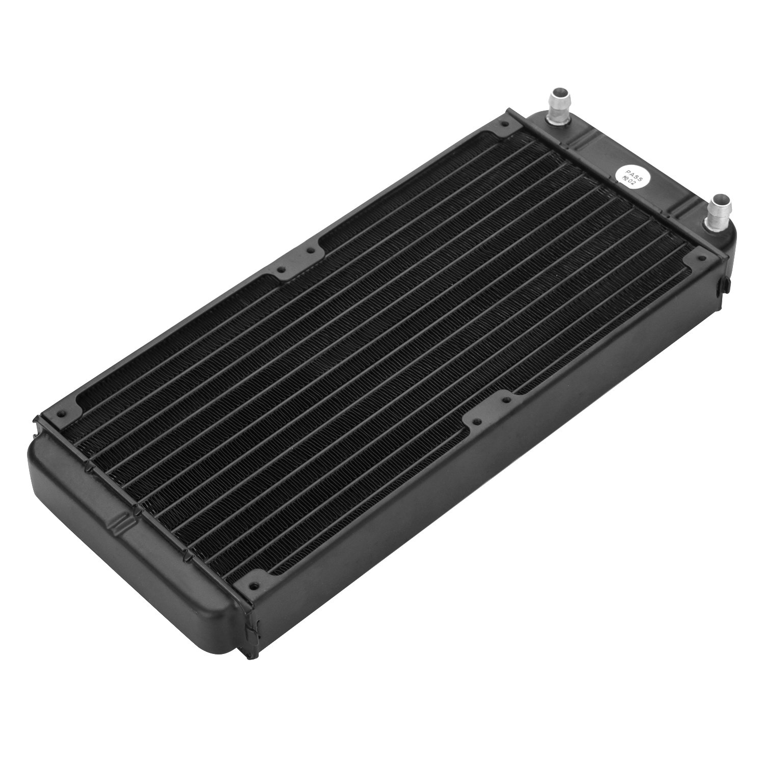 Fitnate 12 Pipe Aluminum Heat Exchanger Radiator for PC CPU CO2 Laser Water Cool System Computer R240, 10.62Inch