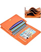 XeYOU Leather Case Minimalist Money Clip Front Pocket Wallet Super Thin Fashion Card Holder With ID Card Window