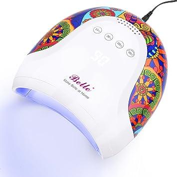 Amazon.com: Belle 48 W LED lámpara de uñas, secador de uñas ...