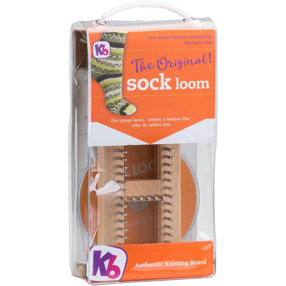 Amazon.com: KB Sock Loom Adjustable Wood Knitting Board Kit w/ DVD ...