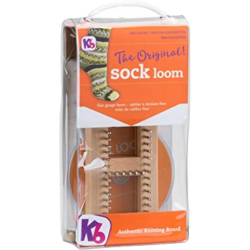 Amazon.com: KB Sock Loom Adjustable Wood Knitting Board Kit w/DVD ...