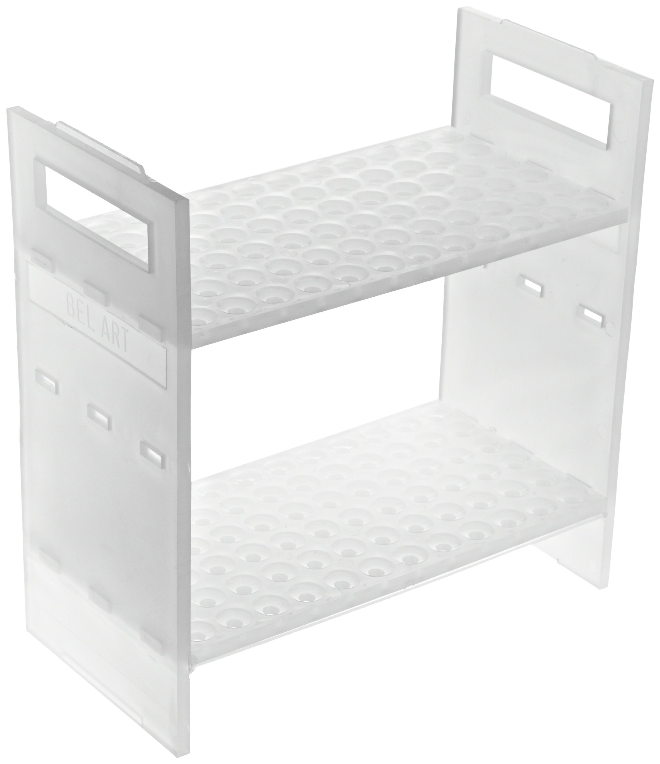 Bel-Art F18854-0005 NMR Sample Tube Rack; 5mm, 72 Places, 8⅜ x 4½ x 8¾ in., Polypropylene by SP Scienceware