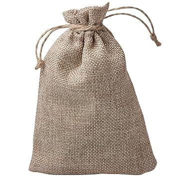 Amazon.com: Pequeño Yute Arpillera Bolsas de regalo, Única ...