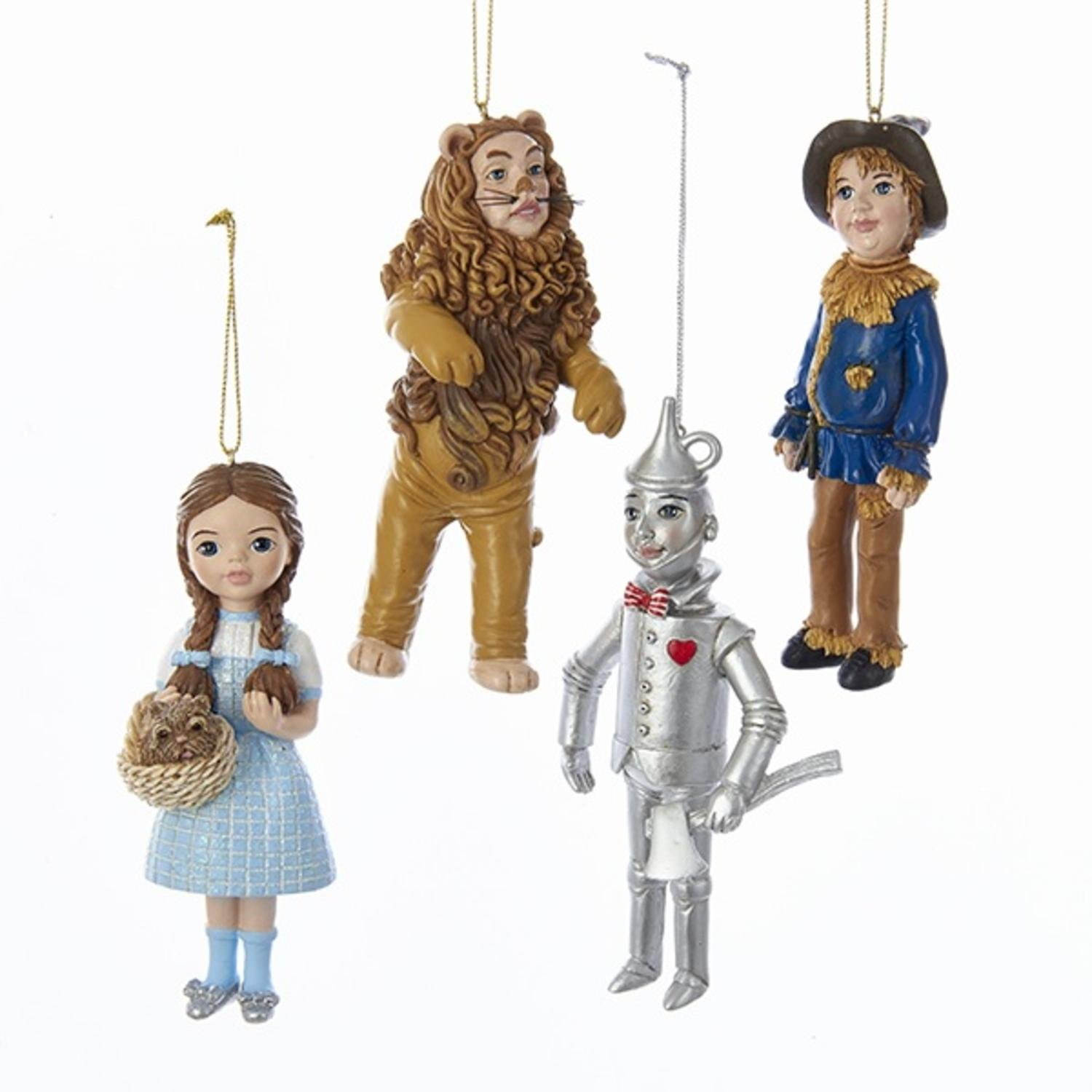 Pack of 12 ''The Wizard of Oz'' Dorothy, Scarecrow, Tin-man and Lion Christmas Figure Ornaments 5''