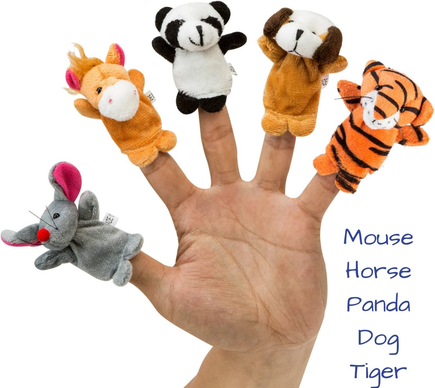 Felices para Contar Historias Juegos de Roles BETTERLINE Juego de Marionetas de Dedo 20 Piezas ense/ñanza 6 Miembros de la Familia y 14 mu/ñecos de Peluche de Animales