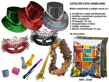 CAPRILO Lote de 6 Bolsas de Cotillones Decorativas Sombrero ...