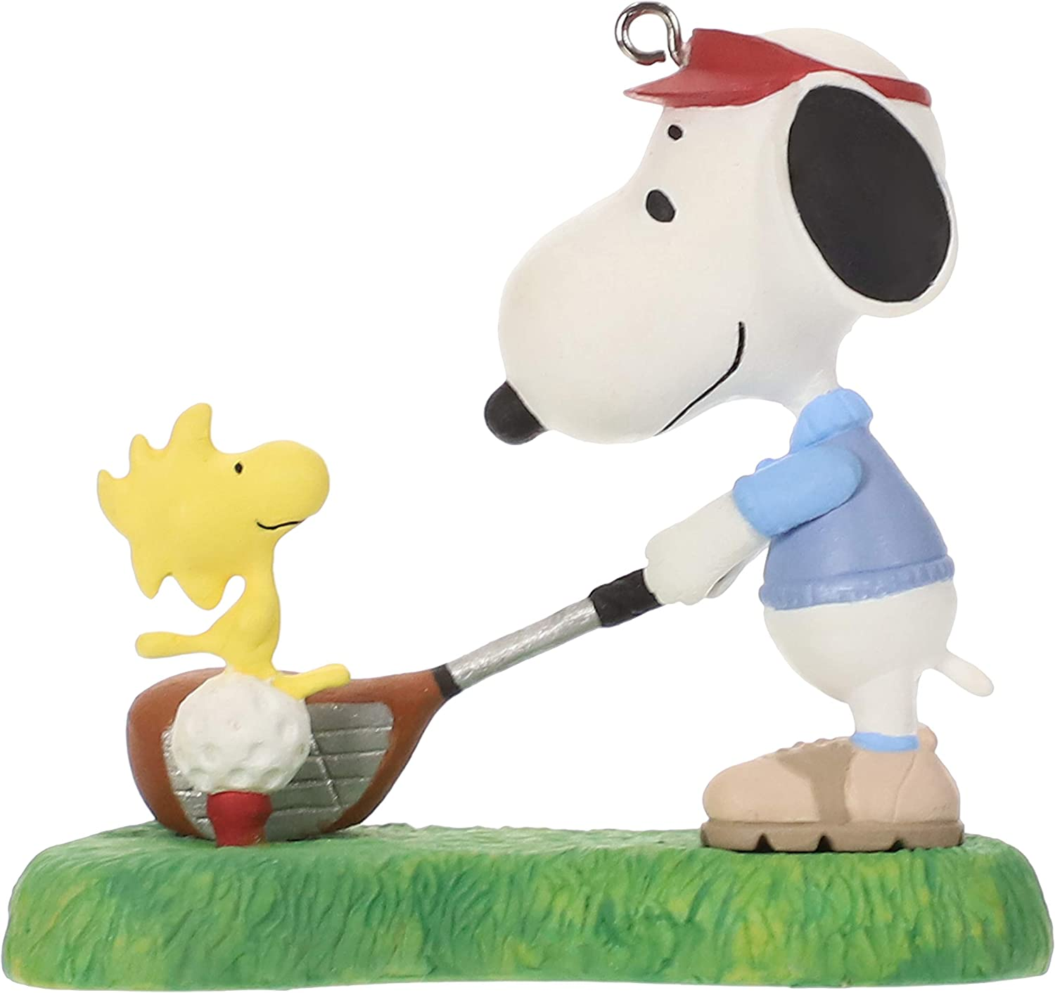 Hallmark Keepsake Christmas Ornament 2019 Year Dated Peanuts Spotlight, Snoopy Golfer