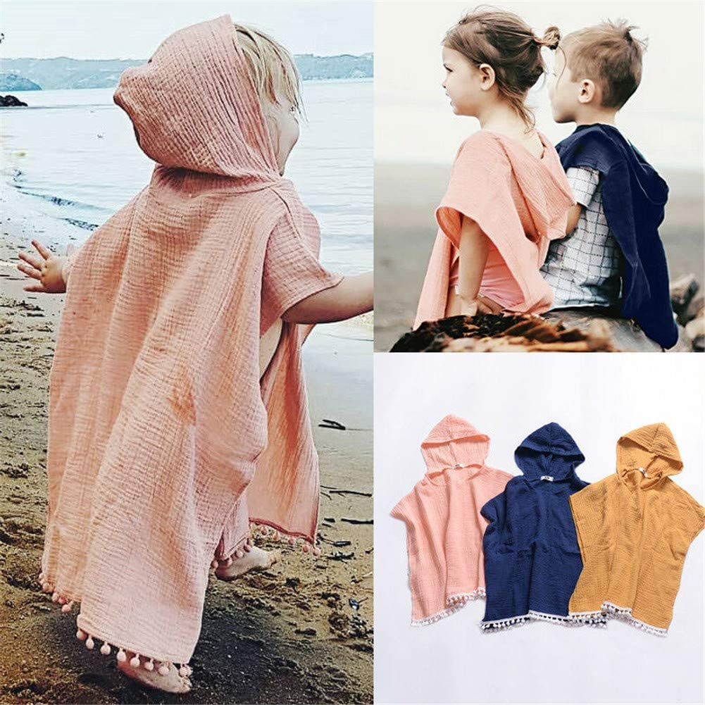 Cover-Ups & Wraps preetyyou Toddler Baby Girl Hooded Cloak Kids Cotton  Linen Solid Color Tassel Swim Cover-Ups Beach Wear Clothing Clothing, Shoes  & Jewelry iambrand.co.ke