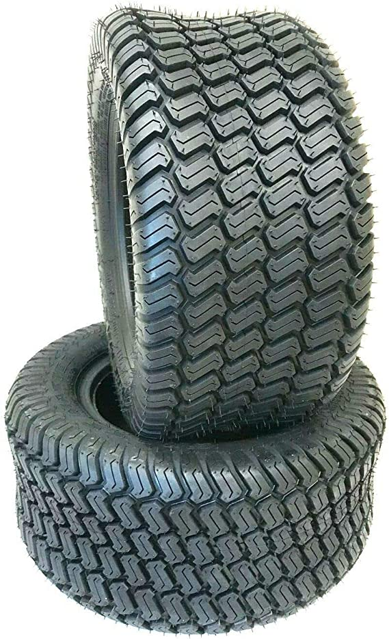 Two 16x6.50-8 Lawn Tractor Tires Tubeless Turf Master Style 16 650 8 Lawn Mower Tires