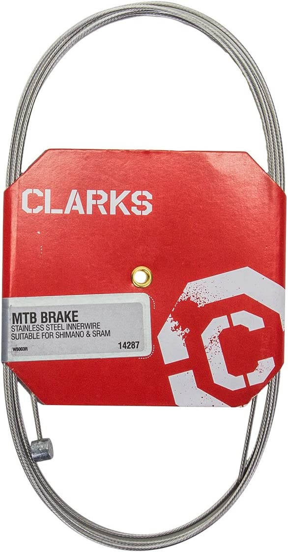 CLARKS STAINLESS STEEL MTB--ROAD BLACK BRAKE CABLE