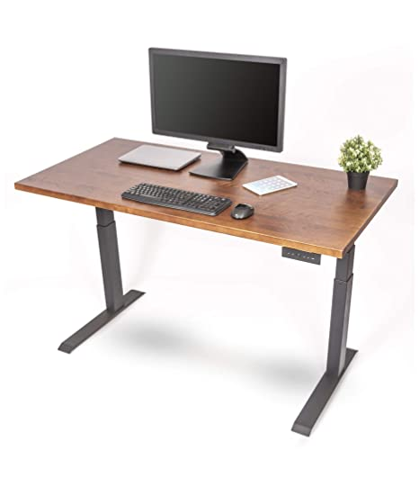 Astounding Amazon Com Solid Wood Electric Standing Desk Stand Up Desk Download Free Architecture Designs Scobabritishbridgeorg
