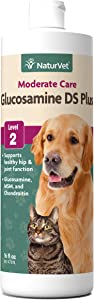 NaturVet – Glucosamine DS Plus MSM Liquid - Level 2 Moderate Joint Care – Supports Healthy Hip & Joint Function – Enhanced with Glucosamine, MSM & Chondroitin – for Dogs & Cats