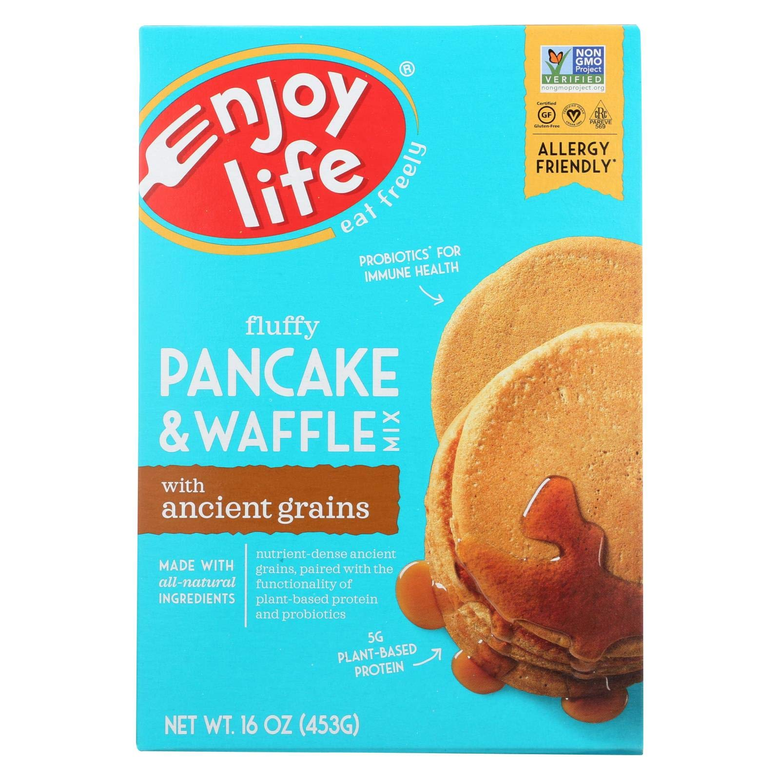 Enjoy Life Baking Mix - Pancake and Waffle - Gluten Free - 16 oz - case of 6 - Gluten Free - Dairy Free - Wheat Free-Vegan by Enjoy Life