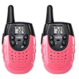 OUREAL Walkie Talkies for Kids Long Distance Two-Way Radio 2 Packs Red