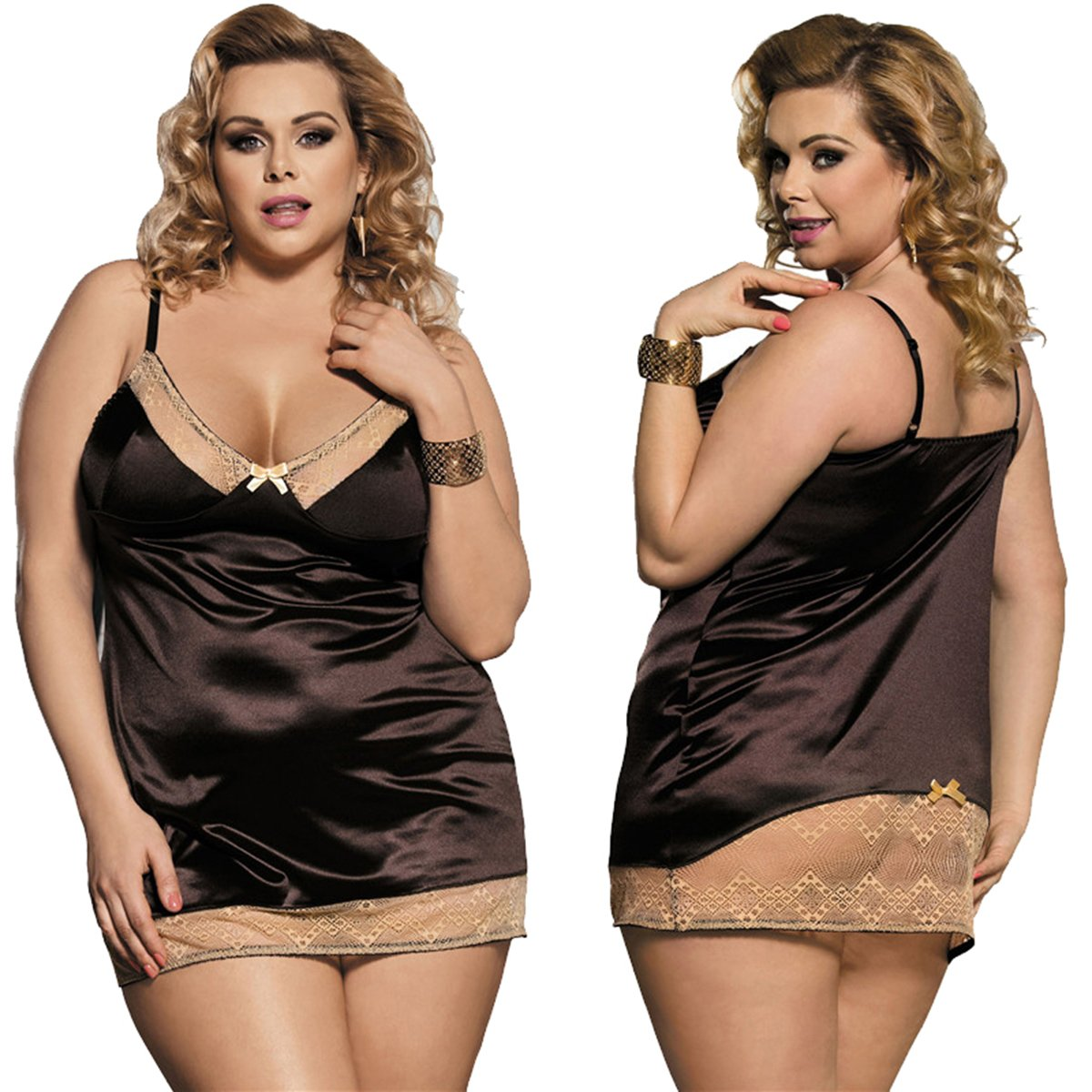 marysgift Donna Babydoll Lingerie Lace Donne Floreale Intimo Breve Notte Abito da Notte.
