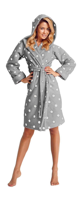 Wanmar Womens Fashion Luxury Soft Dressing Gown Bathrobe Housecoat Knee Length