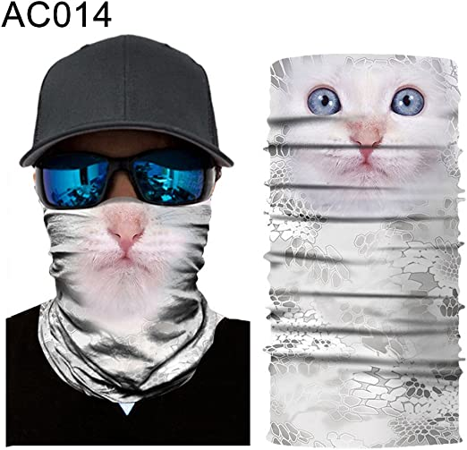 Face Masks Sun Shield Neck Gaiter Balaclava Neckerchief Bandana Headbands Sports