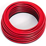 Cable para Altavoz, 2 x 0,5 mm², Color Rojo y Negro,